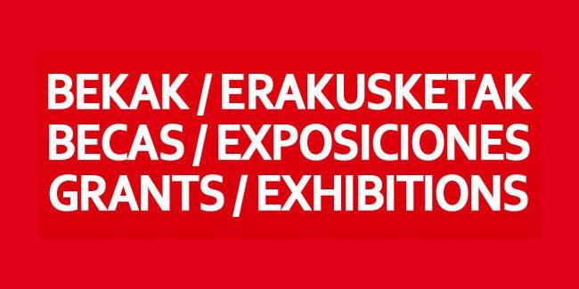 Becas y exposiciones 2012