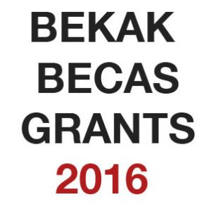 Convocatoria BEKAK - BECAS - GRANTS. 2016