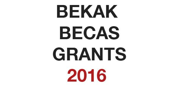 [CERRADA] Convocatoria BEKAK – BECAS – GRANTS. 2016