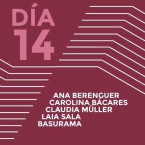 ENCUENTROS CON LOS ARTISTAS 2015Ana BerenguerCarolina BácaresClaudia MüllerLaia SalaBasurama (Pablo Rey Mazón)