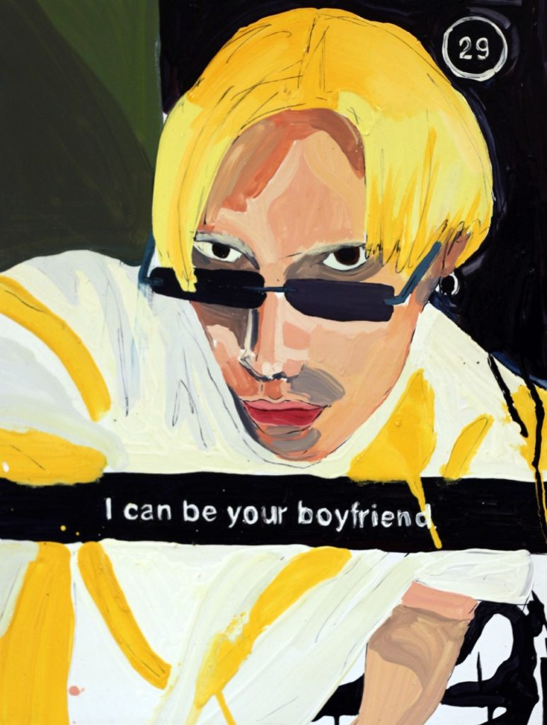 I CAN BE YOUR BOYFRIEND, 80 x 100cm