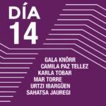 Encuentros con los artistas <br> Gala Knörr <br> Camila Paz Téllez <br> Karla Tobar <br> Mar Torre <br> Urtzi Ibargüen <br>Sahatsa Jauregi