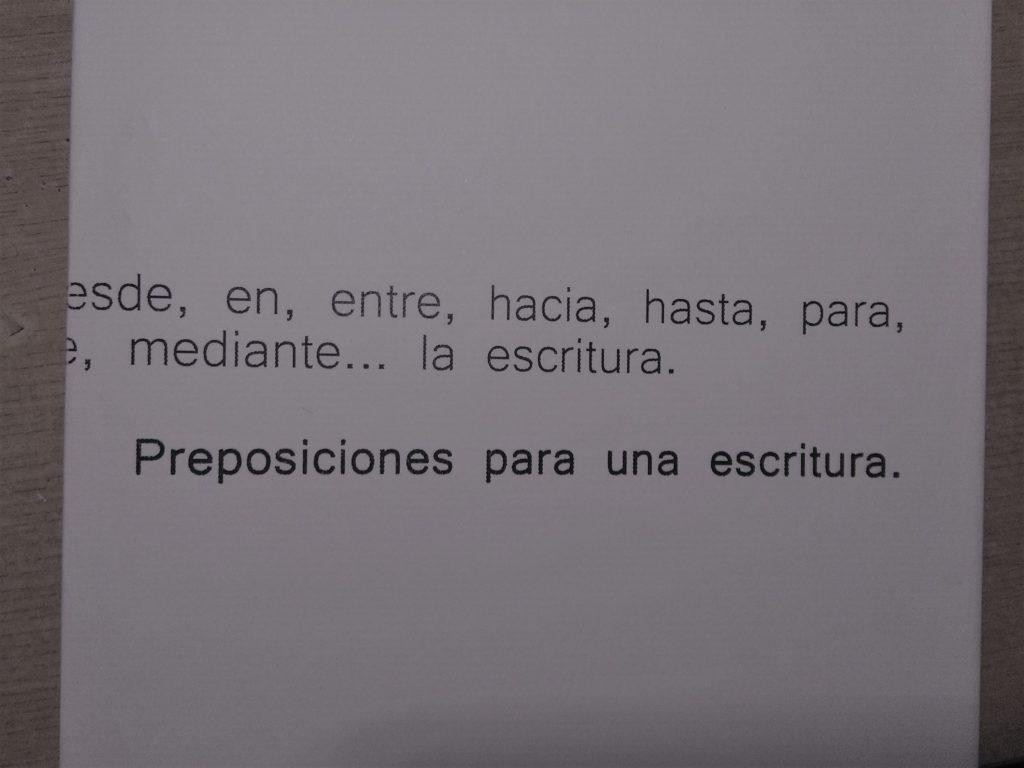 Alberto - PREPOSICIONES PARA UNA ESCRITURA