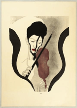 Impresión de un violinista de Koshiro Onchi