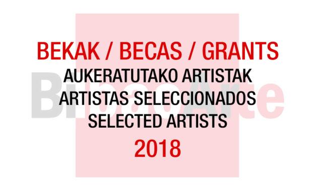 Listado de artistas seleccionados 2018