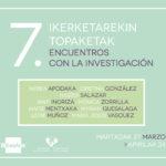 VII. Encuentros con la investigación <br> Presentación de trabajos de Máster de la Facultad de Bellas Artes (UPV/EHU)