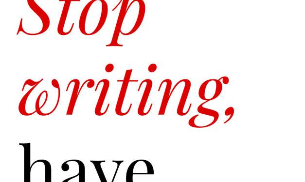 Stop writing, have babies <br> Elizabeth Casillas (2017)
