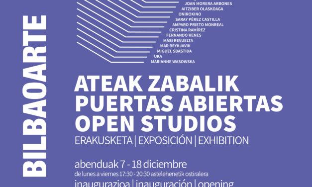 Exposición colectiva: Puertas Abiertas 2018 <br>con la obra de los artistas becados en BilbaoArte durante 2018