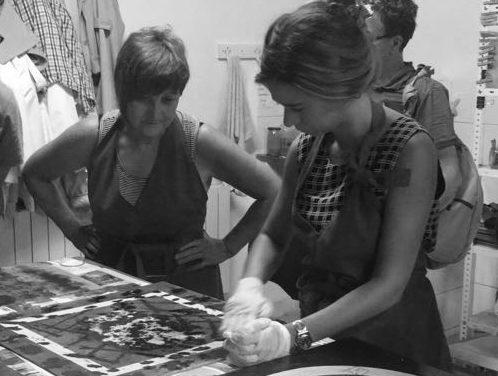 Ikastaro-Tailerra:  «MOKURITO:  litografía  sobre  madera»  Verónica  Domingo  Alonsorekin