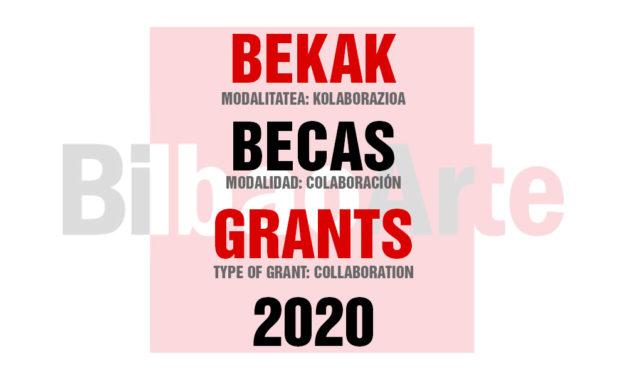 CONVOCATORIA: BECAS DE COLABORACIÓN BILBAOARTE 2020