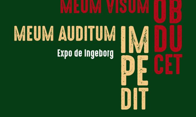 «Meum visum obducet, meum auditum impedit», Inge Conde