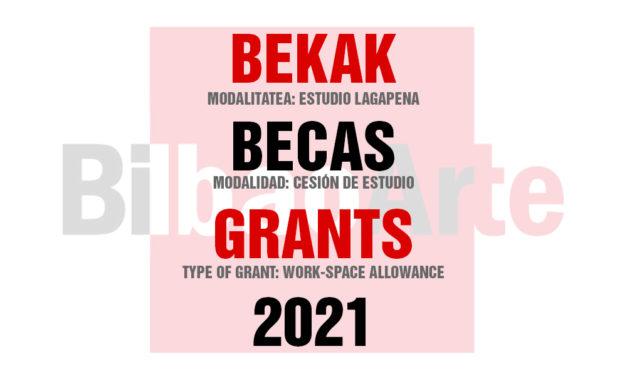 CONVOCATORIA BECAS BILBAOARTE 2021