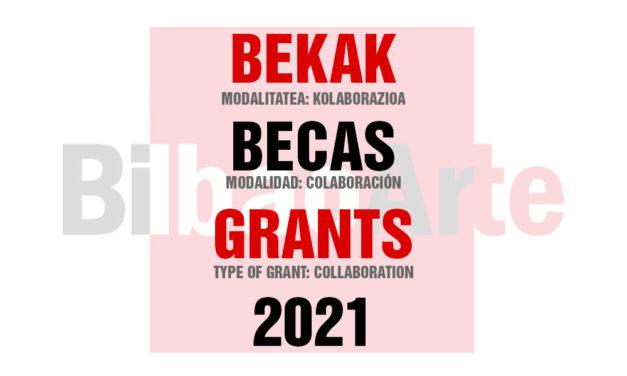 CONVOCATORIA: BECAS DE COLABORACIÓN BILBAOARTE 2021