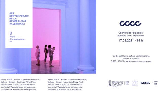 «ART CONTEMPORANI DE LA GENERALITAT VALENCIANA. 3 ANYS D'ADQUISICIONS», Exposición Colectiva