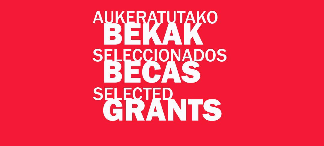 SELECCIONADOS BECAS Y EXPOSICIONES 2013