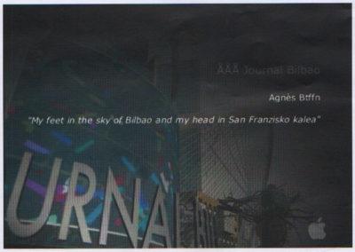 Journal Bilbao. My feet in the sky of Bilbao  Agnés Btffn (2009)