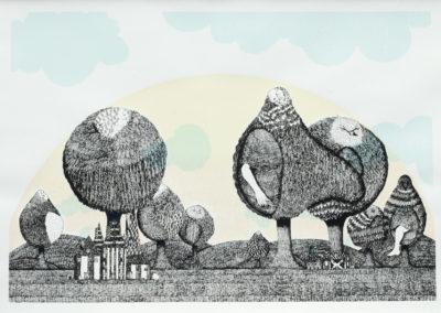 Colonia de árboles pájaro David Martin (2011)