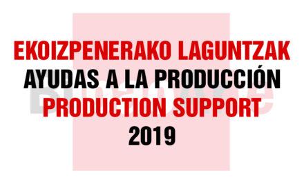 3ª CONVOCATORIA AYUDAS A LA PRODUCCIÓN (AGOSTO-OCTUBRE 2019)
