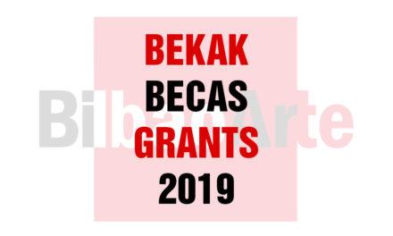 [CLOSED] CALL FOR BILBAOARTE GRANTS 2019