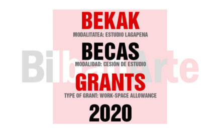 CONVOCATORIA BECAS BILBAOARTE 2020