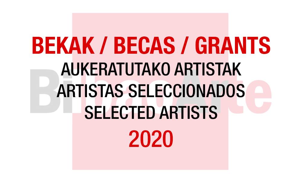 Becas de Colaboración BilbaoArte 2020: artistas seleccionados