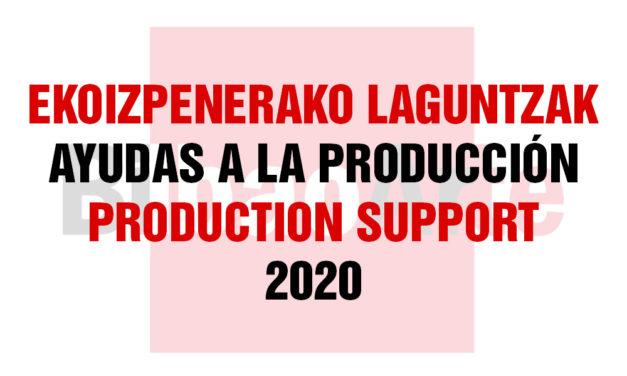 AYUDAS A LA PRODUCCIÓN 2020: 2ª CONVOCATORIA (MAYO-JULIO 2020)